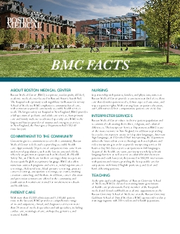 ABOUT BOSTON MEDICAL CENTER