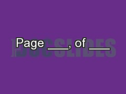 Page ___, of ___