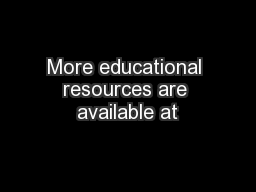 More educational resources are available at