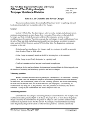 New York State Department of Taxation and Finance Office of Tax Policy