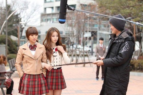 Jiyeon in the making of Dream High 2