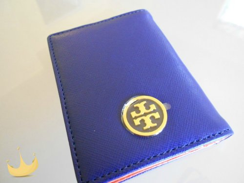 Tory Burch Robinson Transport Passport Holder - Blue