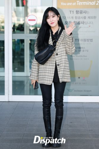 Incheon Airport to Paris - Hyomin (01/2020)