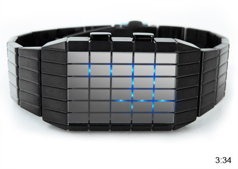 Multi-color LED watch Geomesh