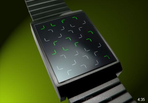 JLr7 watch with Green LED lights