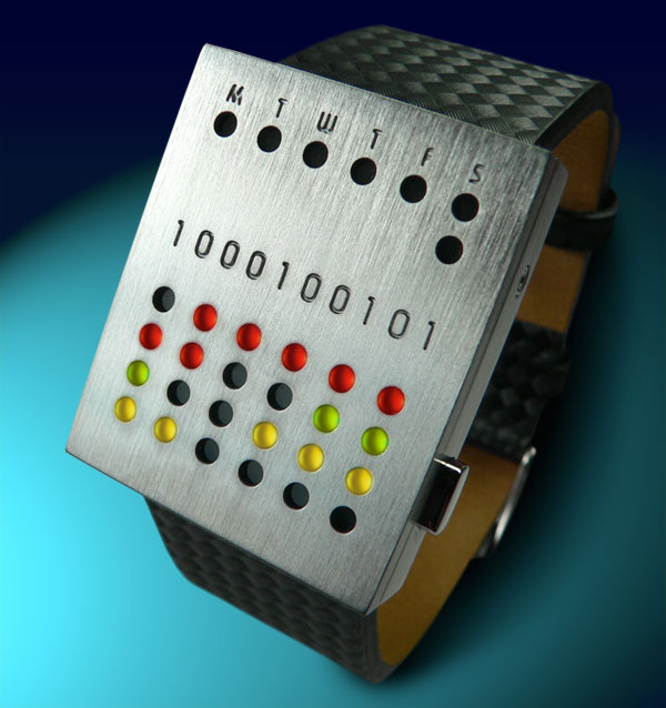 Futuristic LED watch