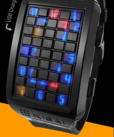 JoyPad multi-color LED watch