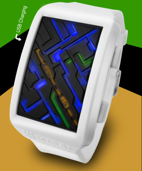 Transit wristwatch with USB charging