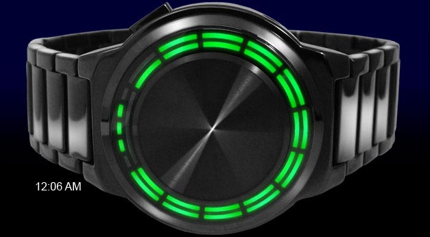 Kisai RPM Green LED watch