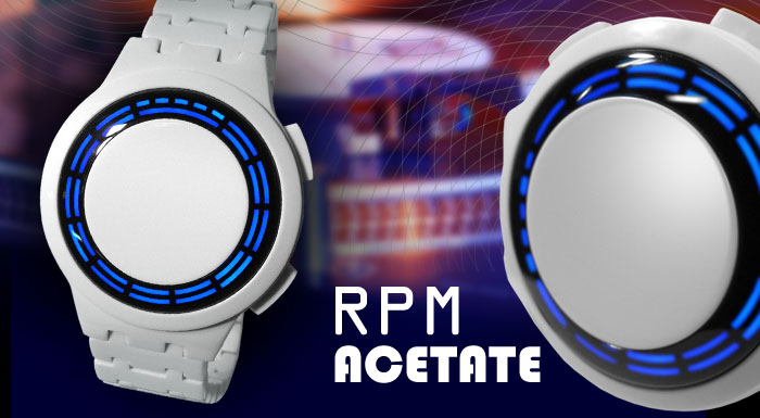 RPM White Acetate LED watch