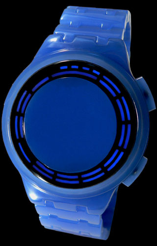 Blue Acetate LED watch