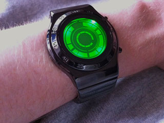 kisai rogue sr2 green lcd led wrist watch design from tokyoflash japan
