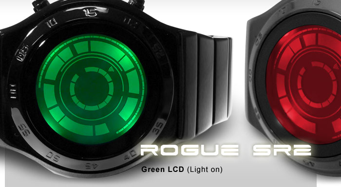 Kisai Rogue SR2 Hybrid LED LCD watch