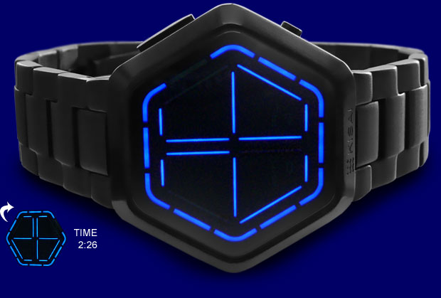night vision blue led watch