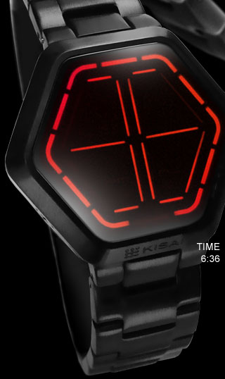Night vision watch red led
