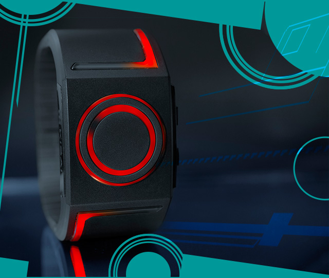 Kisai Seven RED LED watch TRON