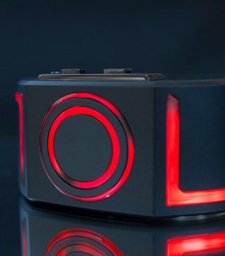Kisai Seven RED LED TRON watch
