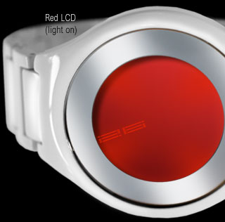 Red LCD watch