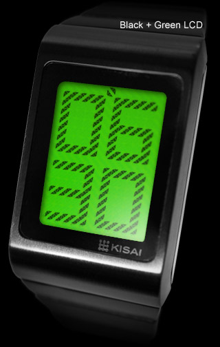 Optical Illusion Black + Green LCD