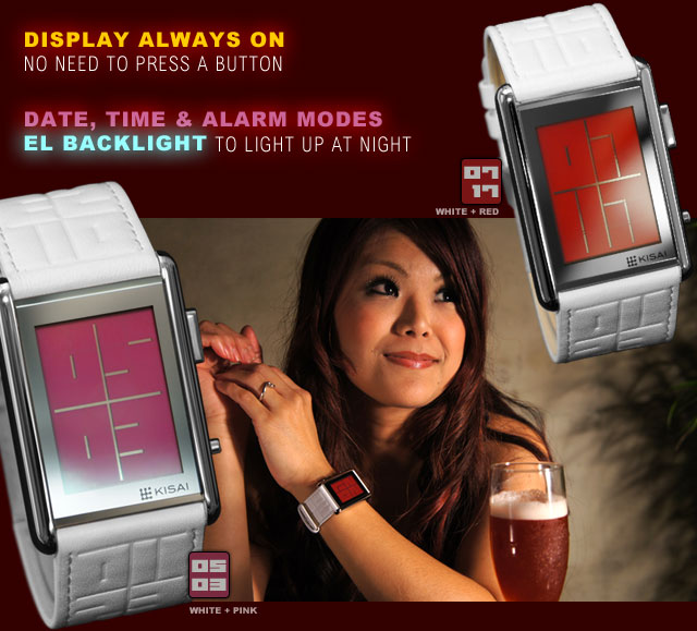 Red or Pink LCD for Ladies
