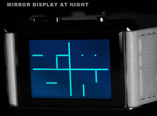 Mirror LCD at night