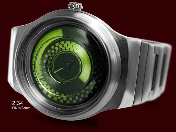 Uzumaki watch Silver & Green model