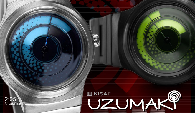 Uzumaki alalog watch design