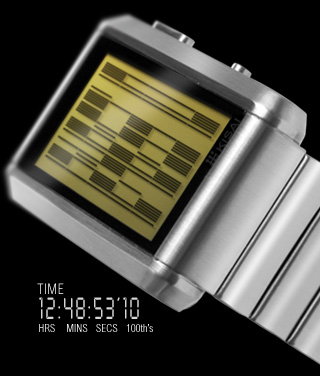 Gold LCD watch
