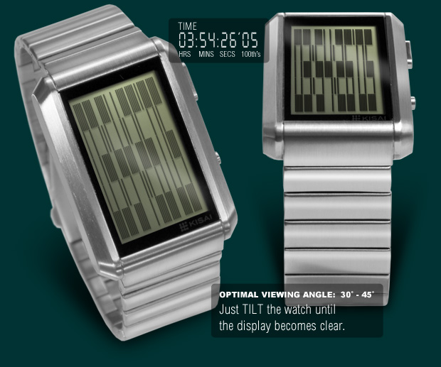 Upload watch with Natural colour LCD