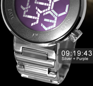 Silver Purple watch