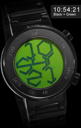 Green LCD watch. Kisai ZONE