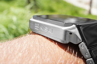 Logo watch side view