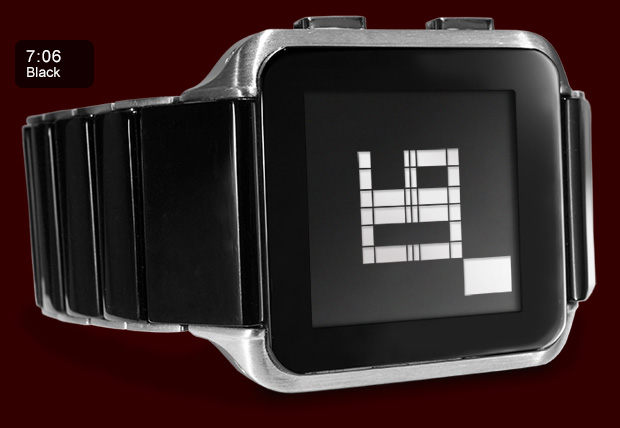 Kisai Logo LCD watch Black version side view