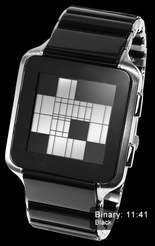 Binary Mode: Kisai Logo LCD watch