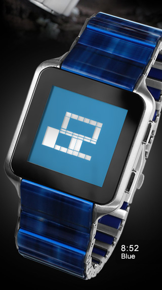 Kisai Logo Blue LCD watch