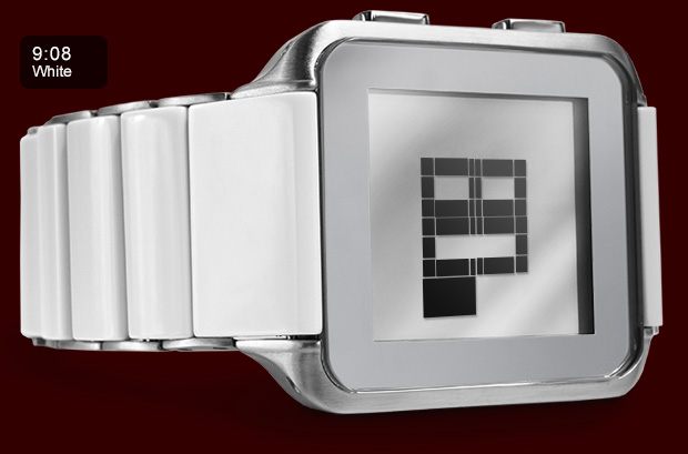 Kisai Logo LCD watch white acetate