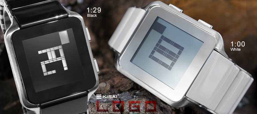 Kisai Logo LCD watch