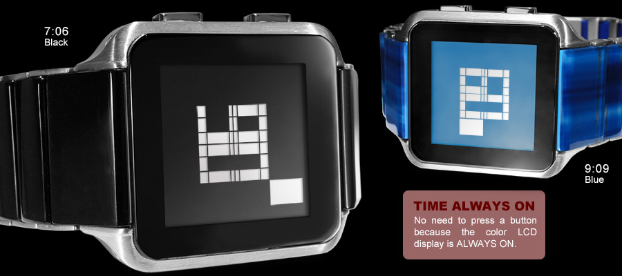 Kisai Logo watch black & blue versions