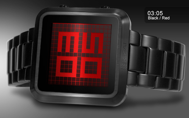 Maze watch Black and Red LCD (Time 03:05)