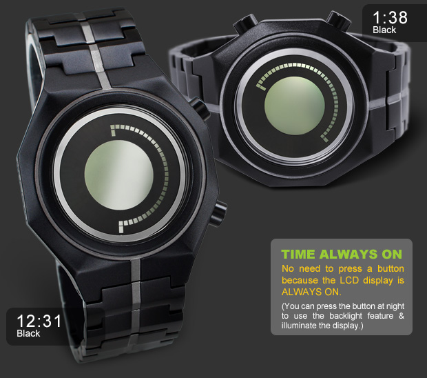 Black Aluminium watches Kisai MARU