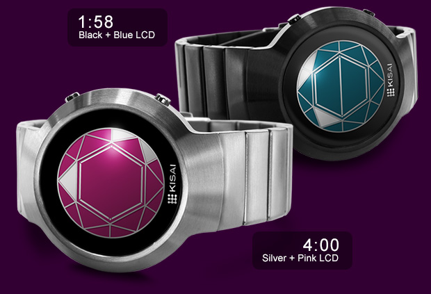 Polygon watches with color LCD screen