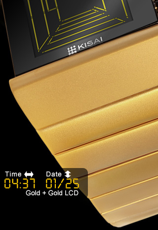 Gold Watch Space Digits