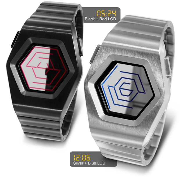 Black & Silver versions of Kisai Spider watch