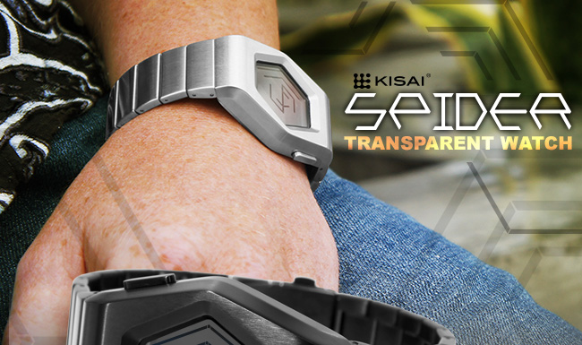 Kisai Spider Transparent LCD watch
