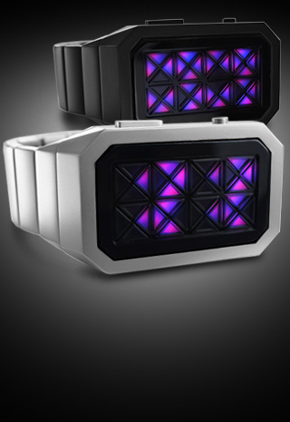 Adjust watch with Violet LEDs