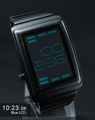 OTO blue LCD sound sensor watch