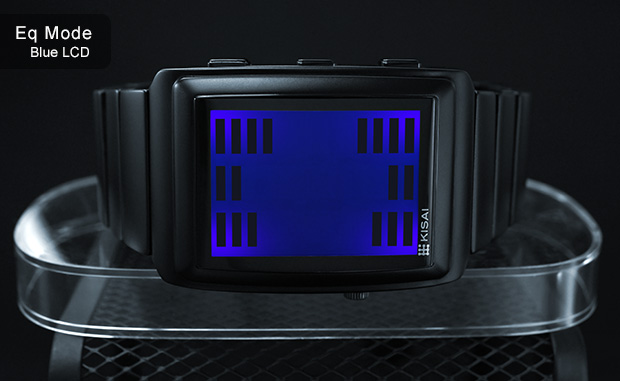 Graphic Equalizer watch with sound sensor