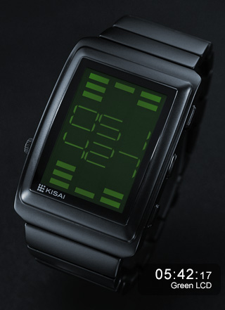 Kisai OTO Equalizer watch in green