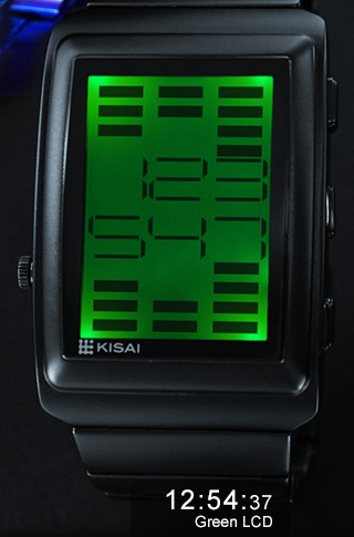 Equalizer watch green LED