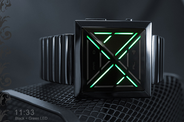 Kisai X Black-green LED